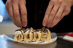 Little Debbie dessert sushi - Banana S'mores Roll.