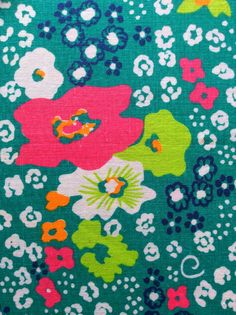 70s Swedish vintage fabric. Mod floral pattern. Good by Inspiria, $20.00