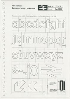 The British Rail Alphabet & Styleguide - AnotherDesignBlog.