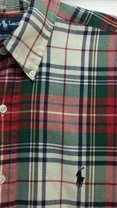 Polo Ralph Lauren Burberry Plaid Colors Blake Dress Casual Shirt Mens Medium EUC #bowierocks #PoloRalphLauren #ButtonFront #burberry #burberryplaid