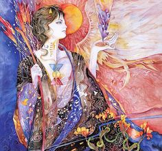 She danced the dance of flames and fire, and the dance of swords and spears; she danced the dance of stars, and the dance of space, and then she danced the dance of flowers in the wind ~  :: Kahlil Gibran  :: Artist Helena Nelson Reed