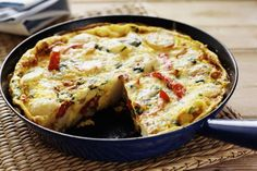 How to make a basic frittata, which can be used with almost any vegetables, cheeses, and/or meats. It is quick to make, is a great vehicle for leftovers, and is easily transportable.