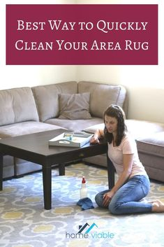Learn how to deep clean your shag and regular area rugs with baking soda and carpet cleaner. These DIY methods work great at home to remove urine and dog smell from a rug. #homeviable #carpetcleaner #bakingsoda #arearug Cleaning Area Rugs, Cleaning Diy, Deep Cleaning, All Natural Cleaning Products, Diy Cleaning Products, Cleaning Solutions, Natural Carpet Cleaners, Diy Carpet Cleaner, Clean Hardwood Floors