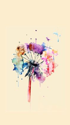 """This is color (or paint) and a flower mixed together to make a """"art-flower"""" which I call it."""