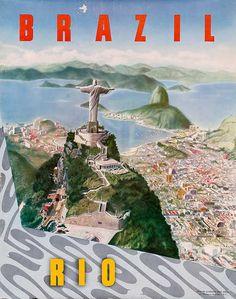 Vintage Brazil Travel Poster