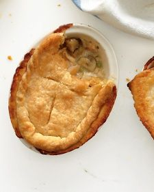 To make potpies ahead of time, let the filling cool, then assemble and freeze for up to 4 months. Bake at 425 degrees, 1 1/4 hours (1 hour for small pies).