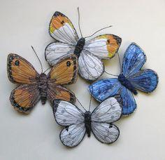 garden and four butterflies for MIB 103