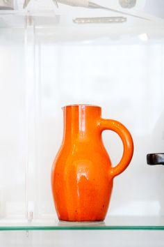 (color) Georges Jouve Ceramic Pitcher