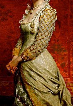 """""""Portrait of a Lady"""" ( detail ) 1879 Pierre Auguste Cot"""