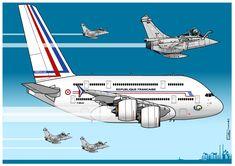"""Vue personnelle d'un """"France One"""" au top de la technologie et du confort : appareil de haut standing plus chasseur de dernière génératio..."""