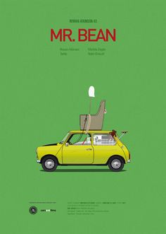 登場する車をメインに作られたポスター。 Mr.ビーン