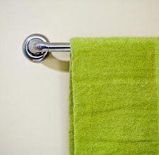 How to paint a chrome towel rack