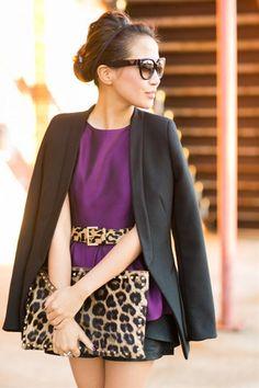 ほぼホリデー:メタリック・ペプラム & レオパード柄 | FashionLovers.biz