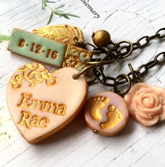 New Baby Girl New Baby Boy Name and Birthdate by Palomaria on Etsy