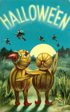 vintage Valentine & Sons Halloween postcard