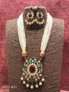 Rajasthani kundan necklace set