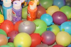 Paint balloon fight. Must do this one day!