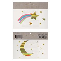 Rainbow Shooting Star Tattoos (€2,29) ❤ liked on Polyvore featuring accessories and body art