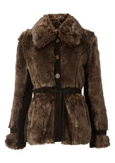 Maggie Fur Jacket - Coffee discovered on Fantasy Shopper 70s Fashion, Womens Fashion, Winter Trends, Faux Fur Jacket, Coats For Women, Brown And Grey, Fashion Forward, Style Inspiration, My Style