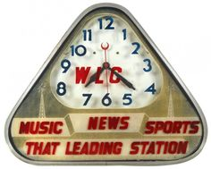 WLC-That Leading Station-Music-News-Sports neon clock