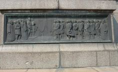 Bas-relief beneath the statue of Tsar Alexander II in the city of Sofia, Bulgaria. The relief shows the first meeting of the Bulgarian constituent assembly in Veliko Trnovo, a landmark date in Bulgarian history