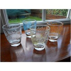 Vintage 1960s Shot/Liqueur Glasses x 4 ~ for E.A.C.H. Listing in the Other,Glass,Porcelain, Pottery & Glass Category on #eBid United Kingdom | 144071325