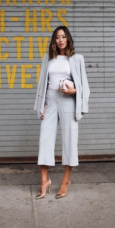 Break up your groutfit with a crisp white tee, the wardrobe staple every girl owns.