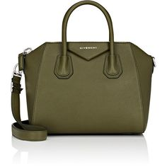Givenchy Women's Antigona Small Duffel Bag found on Polyvore featuring bags, luggage and dark green