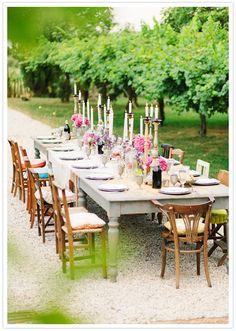 outdoor vineyard dining