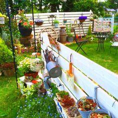 小さな庭の画像 by ベリーさん | 小さな庭とガーデン雑貨と自作板壁とお気に入り♡と今日の一枚とガーデニング雑貨と我が家の庭とガーデニングと手作りガーデニングコンテスト