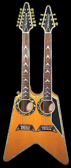 Boris Dommenget Custom Guitars Acoustic Vee double neck --- https://www.pinterest.com/lardyfatboy/