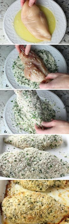 Parmesan Crusted Chicken - Easy enough for a weeknight but elegant enough for entertaining! Baked in lemon, garlic, breadcrumbs, Parmesan, and fresh parsley.