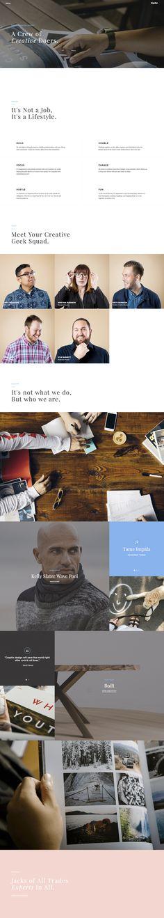 Cool portfolio website design