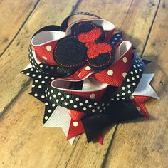 Minnie Mouse inspired hair bows