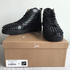 2384d0d513b4 Christian Louboutin men s sneakers Louis men s flat spikes. Size 43 US 10.  New Purchased from the Louboutin boutique  1400 with tax REDUCED PRICE  TODAY ...