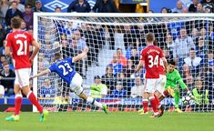 Everton 3 Middlesbrough 1 in Sept 2016 at Goodison Park. Seamus Coleman scored on 42 minutes to make it 2-1 to Everton #Prem