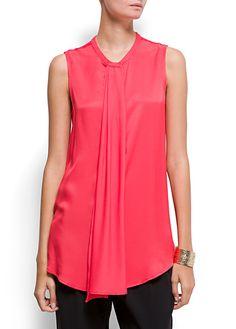 MANGO - NEW! - Scarf effect blouse