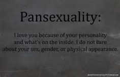 Maybe I should self title as pansexual instead of bisexual. Maybe I'll get less crap about it? Hmm