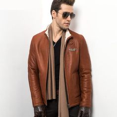 Find More Leather & Suede Information about 2015 Air force Man's Fur Coat…