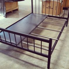 Full size Bed Frame. Welded Steel. Doesn't need box springs