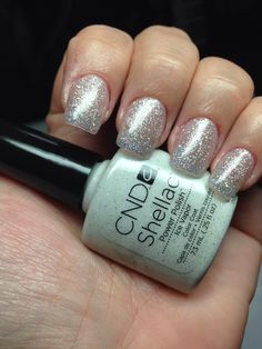 Cnd shellac ice vapor nails. LOVE IT! One of our favorites here at la salon…