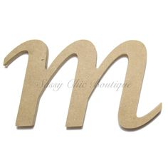 unfinished wooden letter lowercase m lucida calligraphy font