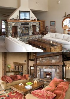 rustic.org farmhouse living room | Rustic living room before and after!