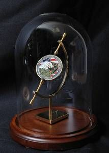 Challenge Coin Display Dome - Single Coin with Stand for Large Coins...this is a beautiful way to display a special challenge coin. Perfect for retirement and promotion gifts.