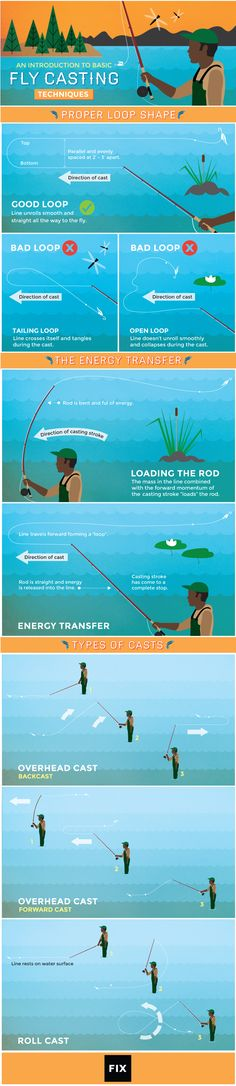 An Introduction to Basic Fly Casting Techniques #infographic #FlyCasting #Fishing