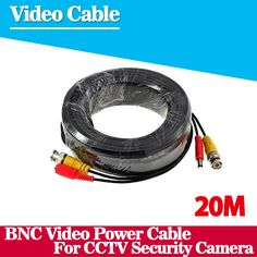 New CCTV Camera Accessories BNC Video Power Siamese Cable for Surveillance DVR Kit Length 20m 65ft #women, #men, #hats, #watches, #belts, #fashion, #style