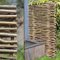 Bordure noisetier avec tige | Gardens, Natural fence and Balinese ...