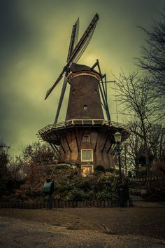 "Windmill ""De molen van piet"" (1769) Almaar, The Netherlands"