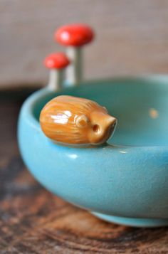 Custom-Made Small Hedgehog Bowl - 3-5 Weeks for Delivery by tashamckelvey on Etsy https://www.etsy.com/listing/161567945/custom-made-small-hedgehog-bowl-3-5