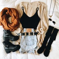 Collaboration with California style winter outfit😂 Would you wear? Cute Comfy Outfits, Girly Outfits, Cute Summer Outfits, Pretty Outfits, Stylish Outfits, Fall Outfits, Amazing Outfits, Shorts Outfits For Teens, Denim Fashion